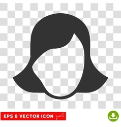 Lady face template eps icon vector