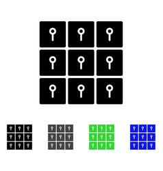 Lockers flat icon vector