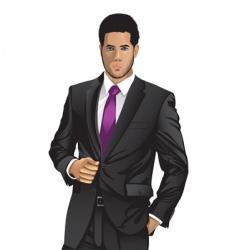 Man in suit vector
