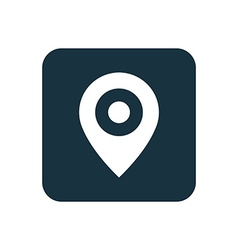 map pin icon Rounded squares button vector image