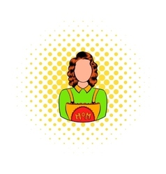 Mom icon in comics style vector image