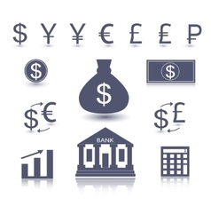 money symbol vector image vector image