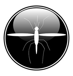 Mosquito button vector