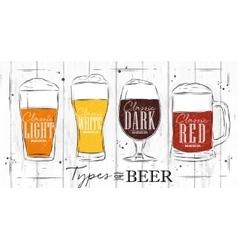 Poster types beer coal vector