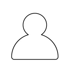 Profile outline icon isolated lined vector