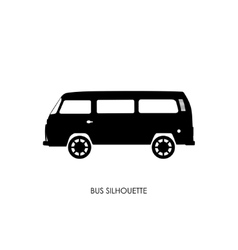 Retro bus silhouette on a white background vector image vector image
