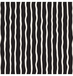 Seamless hand drawn black and white stripes vector