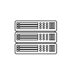 server hosting technology vector image vector image