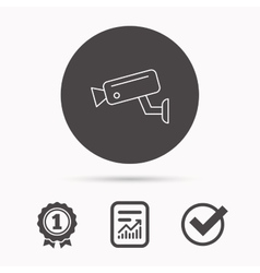 Video monitoring icon Camera cctv sign vector image