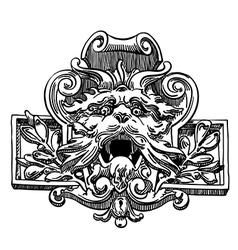 Vintage sketch design element vector