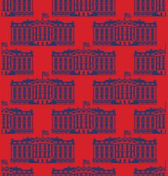 White house america seamless pattern us president vector