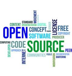 word cloud open source vector image