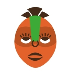 Mask african culture icon vector