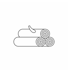 Wooden log icon outline style vector