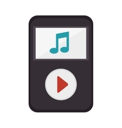 Music player portable device vector