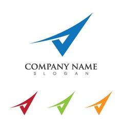 V Letter Logo Template vector image