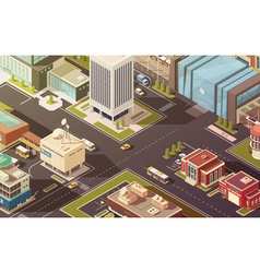 Government buildings isometric vector