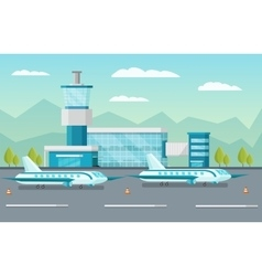 Airport Orthogonal vector image
