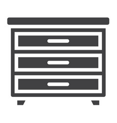Drawer unit solid icon furniture and interior vector