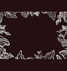 Template branch white vector