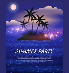 Summer night party flyer vector