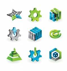 3d design elements and graphics vector image