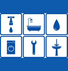 Set of bath objects vector