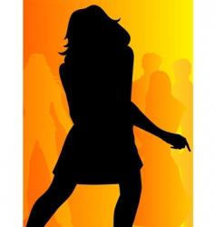 girl dancing vector image