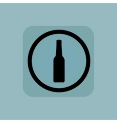 Pale blue alcohol sign vector