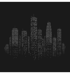 City skyscraper background vector