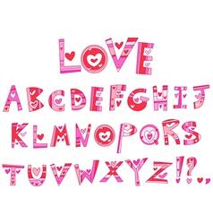 love alphabet vector image