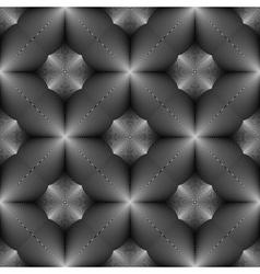 Design seamless monochrome concave pattern vector image