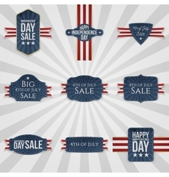 Fourth of july national badges set vector