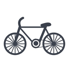 Bike isolated flat icon vector