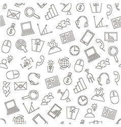 Communicationbusiness pattern black icons vector