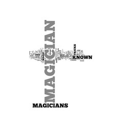 A to z of well known magicians text word cloud vector