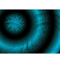 abstract background with round ornament vector image vector image