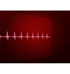 Abstract heart beats cardiogram EPS 10 vector image