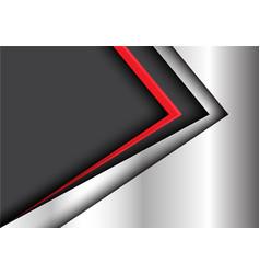 abstract red black arrow metal modern vector image vector image