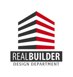 Building logo design department modern buildings vector