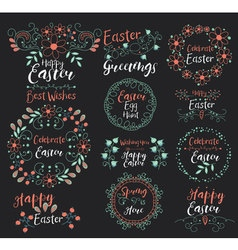 Celebrate EasterHappy GreetingsSpring Is Here Egg vector image vector image