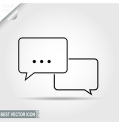 Dialogue Message Discussion Pictograph Chat vector image