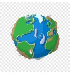 Earth in cartoon style vector