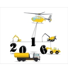 Equipment Builds Calendar for 2016 vector image