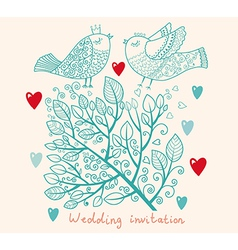 Floral Wedding Inviation vector image vector image