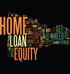 Get your home ready to sell with a home equity vector