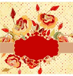 Grunge floral decorative background EPS 8 vector image vector image