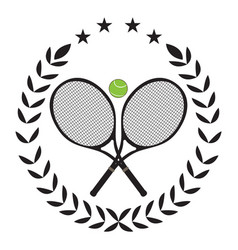 isolated tennis emblem vector image