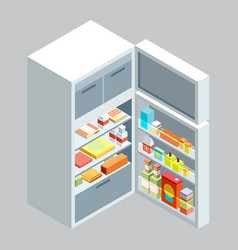 isometric fridgeflat vector image