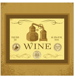 label for wine with winery vector image vector image